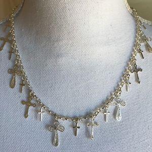 "Jewelry - NEW! Multi-Cross adjustable 19"" necklace SS"